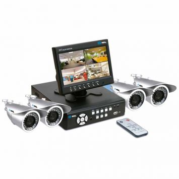 KIT CFTV C/4 CAMERAS, DVR E MONITOR